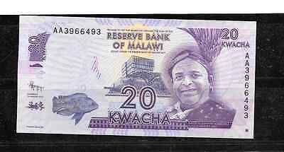 Malawi #57 2012 Unc   2012 20 Kwacha Currency Banknote Bill Note Paper Money