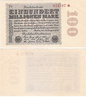 Germany Banknote - 100 Einhundert Millionen Mark from1923 - Uniface - Top cond