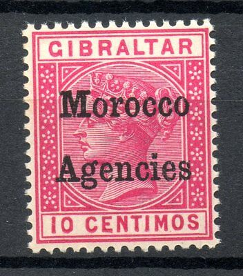 MOROCCO AGENCIES Victoria 10c 1898 Gibraltar Chronicle Ovpt Unmounted Mint