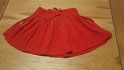 cute baby girls 9-12 months skirt red next good condition