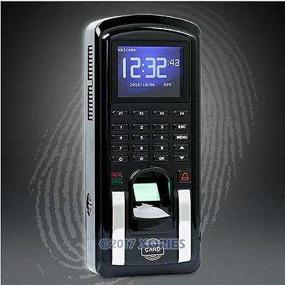 Color Screen Fingerprint Time Clock Access Control With RFID Reader +TCP/IP+USB
