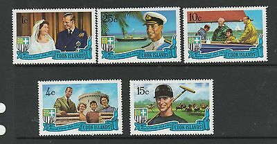 Cook islands 1971 Royal Visit UM/MNH SG 345/9