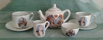Miniature King George V 1935 Silver Jubilee Tea Set.