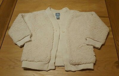 baby girls 18-24 months Cardigan cream fluffy wooly style