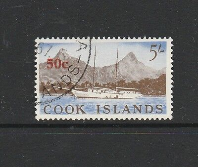 Cook islands 1967 Opts 50c on 5/- FU SG 217