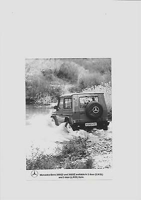 MERCEDES BENZ 300GD - 300GE PRESS PHOTO 'H' REGISTERED'  'brochure related'