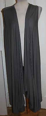 Grey Join Clothes Lightweight Edge to Edge Duster Waistcoat - one size & BNWOT