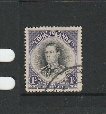 Cook islands 1944/6 1/- GV1 FU SG 143