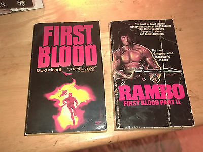 lot of 2 books First Blood by David Morrell Rambo Part II (1981, Paperback)