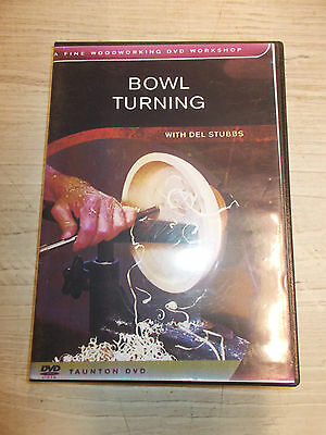 BOWL TURNING WITH DEL STUBBS DVD VGC Lot 15