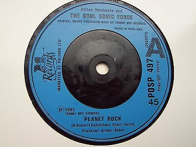 Africa Bambaata And The Soul Sonic Force, Planet Rock. Original 21 Records 45