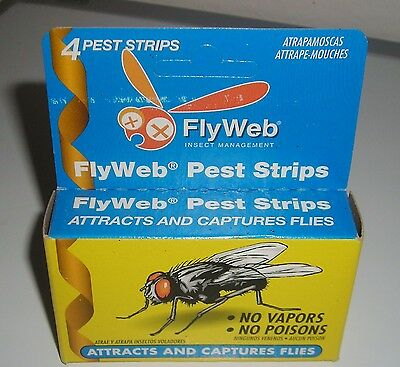 Flyweb Pack Of Four Fly Pest Strips