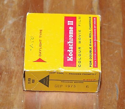 Kodachrome II double 8mm colour movie film sealed in box dated September 1973