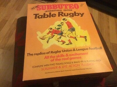 SUBBUTEO RUGBY FRANCE SCOTLAND WALES 1960-70s VINTAGE CLASSIC