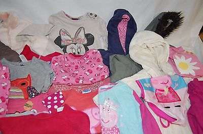 Job lot mixed Girls size 12 - 24 months Clothing Autumn / Summer 5kg WH/R