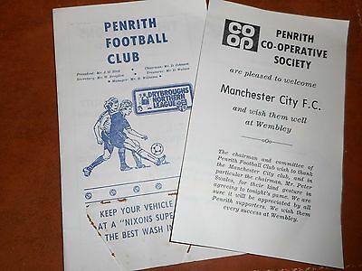 PENRITH  v  MANCHESTER CITY  1980/1  FRIENDLY ~ APRIL 27th  *****FREE POST*****