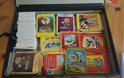 Large Panini sticker collection. Albums. Sealed packs and loose.