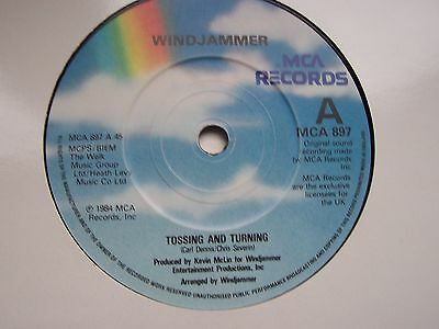 Windjammer, Tossing & Turning / Dive Inside My Love. Original 1984 Mca Single