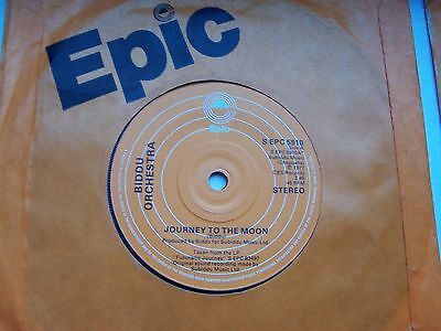The Biddu Orchestra, Journey To The Moon / Journey In The Rain. 1977 Epic 45