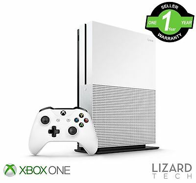 NEW Microsoft Xbox One S 500GB Gaming Console - PAL 1681 White - 1 Year Warranty