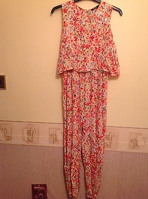 Girls playsuit jumpsuit age 11-12 years pink peach worn once