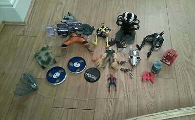 Bundle Of Spares Of 14 Items Of Marvel Toys/accessories  Spiderman/x Men Etc
