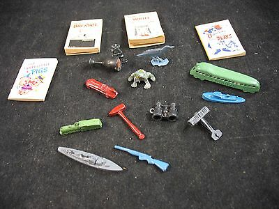 Collection of vintage Crackerjack Toys Tootsietoy zephyr other toys