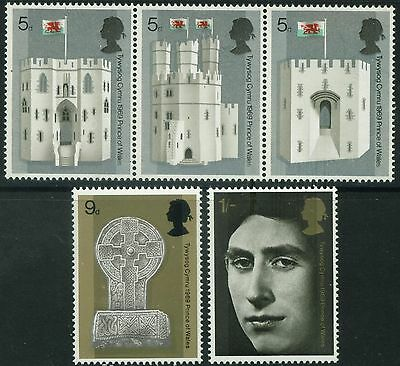 1969  INVESTITURE SET SE TENANT  SG 802a, 805 & 806  UNMOUNTED MINT