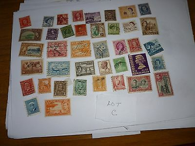 Old Commonwealth Stamps Used Off Paper Lot