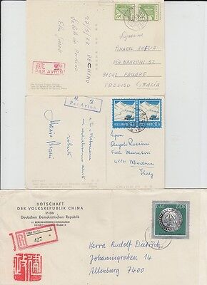 3 X China Old Postcard Cover Chinese Consulate In East Germany !!