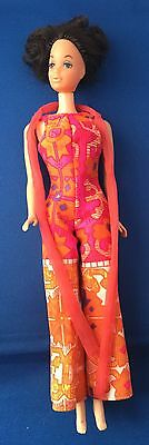 Barbie Friend Steffie Walk Lively Doll w/Original Jumpsuit &Scarf Outfit #1183