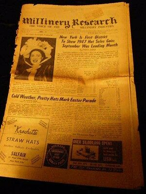 ~~Millinery Research Newspaper~MARCH 31, 1948~~ 2 Sections~~NR