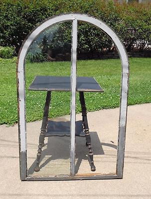 Vtg Salvaged Shabby Chic Architectural Dome Curved Window Pane PICKUP ONLY!
