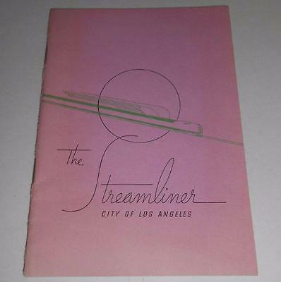 Union Pacific booklet 1939 STREAMLINER City of Los Angeles PHOTOS railroad
