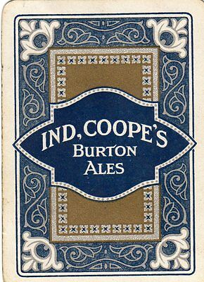 "EXTREMELY RARE WIDE ""Ind Coope (Blue/Gold) British Brewery"" SINGLE Playing Card"