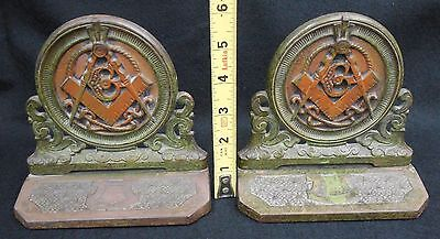 Antique Judd 9753 Masonic Cast Iron Bookends #249