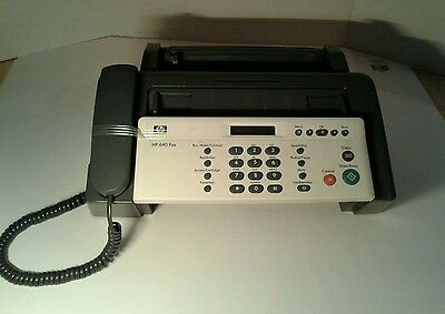 TESTED!! HP 640 Ink Jet Fax Machine - Excellent Cond. Full Ink Cartridge