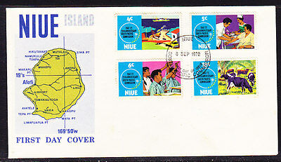 Niue 1972 South Pacific Commission  First Day Cover - Unaddressed