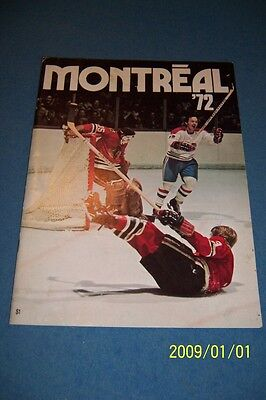 1972 MONTREAL CANADIANS Team Yearbook Ken DRYDEN Yvan COURNOYER Rare 34 Pages