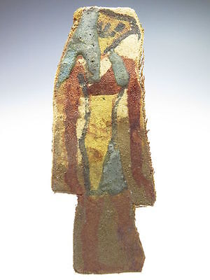 Egyptian linen mummy wrapping with Kebehsenoef, one of the 4 sons of Horus.
