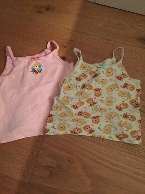 2x Girls Vests 3/4 Years