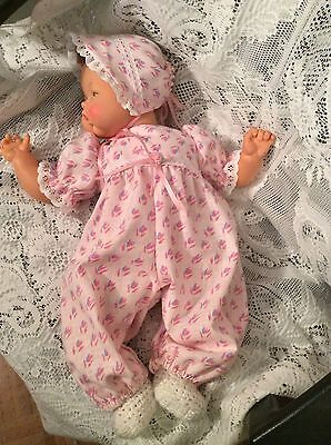 "Doll Clothes for 19""/20"" Large Thumbelina ""Pretty In Pink Romper Set"" by Maureen"