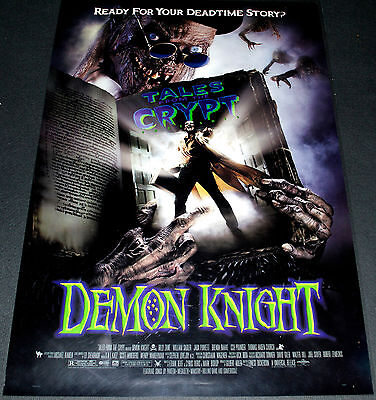 DEMON KNIGHT 1994 ORIGINAL 27x40 D.S. MOVIE POSTER! TALES FROM THE CRYPT HORROR!