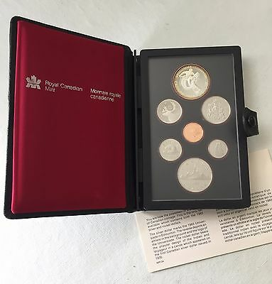 1983 CANADIAN PROOF with SILVER DOLLAR MARKING THE UNIVERSIADE of EDMONTON