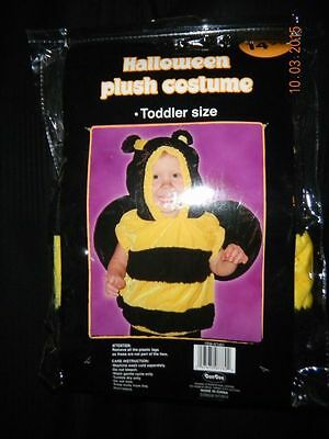 Halloween Plush Bumble Bee Costume-One Piece w/Hoodie-Toddler Size