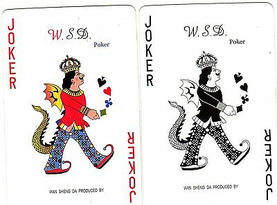 "Pair of RARE MINT ""WSD Poker (CHECK YOURS)"" JOKER Playing Cards #106"