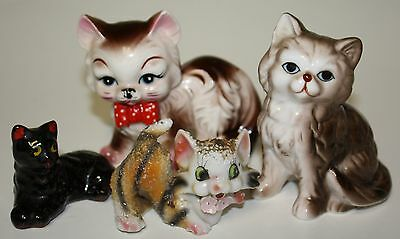 Vintage Collection of Whimsical Glass Cats & Kittens