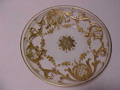 "6 Plates with Heavy Gold Design 6"" Baccarat?"