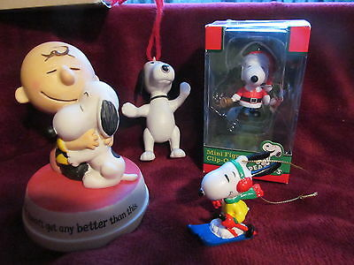 Snoopy Collectible Lot~Hallmark Hong Kong Ornaments - Winter Fun Snoopy Skier
