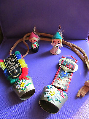 Vintage Made In Austria Cartouches  & Souvenir Bells